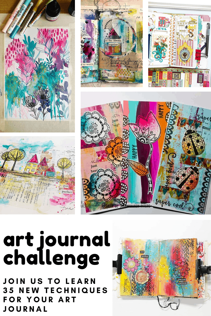 "Embrace the ""expression"" element of self care this year by joining our free art journal challenge! Check out the video tutorials and download the free printable!"
