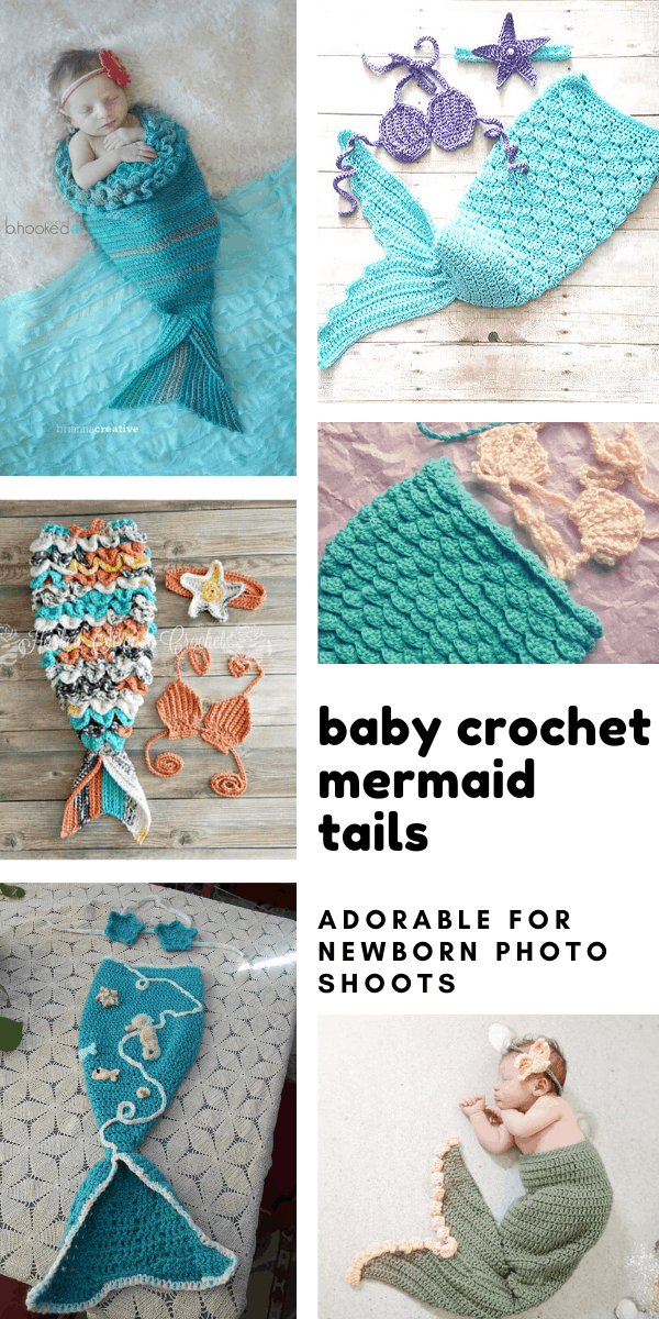 If you're planning a newborn baby shoot for your little girl you'll want to make one of these crochet mermaid tail patterns!