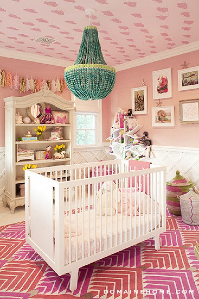 There is something special about placing the crib in the middle of the room