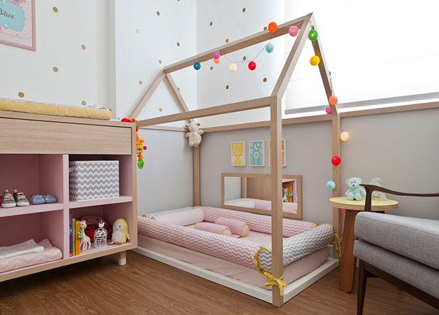 An adorable floor bed