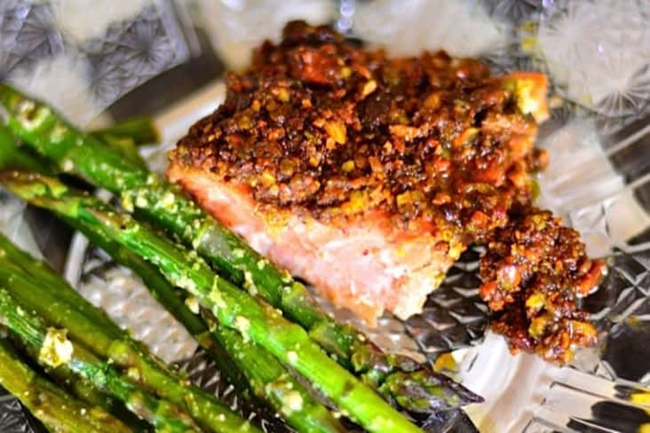 Pistachio Lime Baked Salmon Recipe