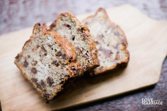 The Very Best Chocolate Chip Banana Bread