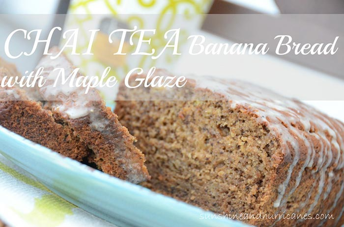 Chai Tea Banana Bread with Maple Glaze