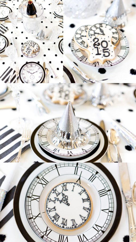 LOVE these black and white New Year Eve Party ideas!