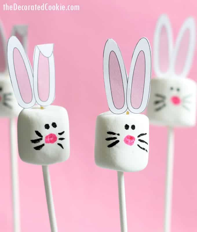 Last Minute Easter Bunny Marshmallow Treats