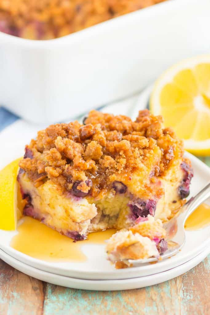 Blueberry Lemon French Toast Bake
