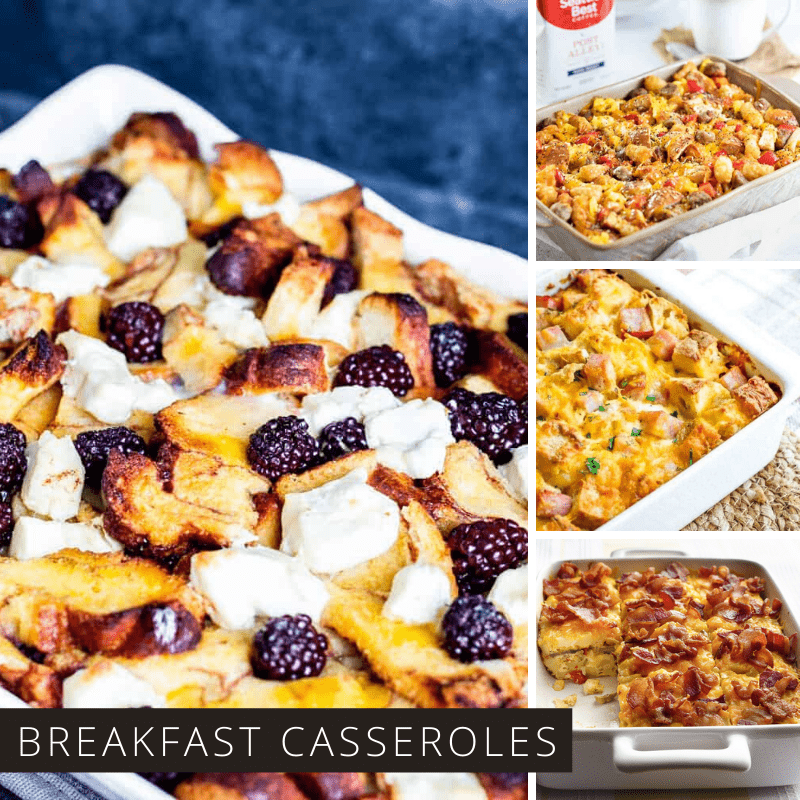 You have to see these make ahead breakfast casseroles – they are perfect for feeding a crowd! Try them for Halloween, Thanksgiving and of course Christmas!