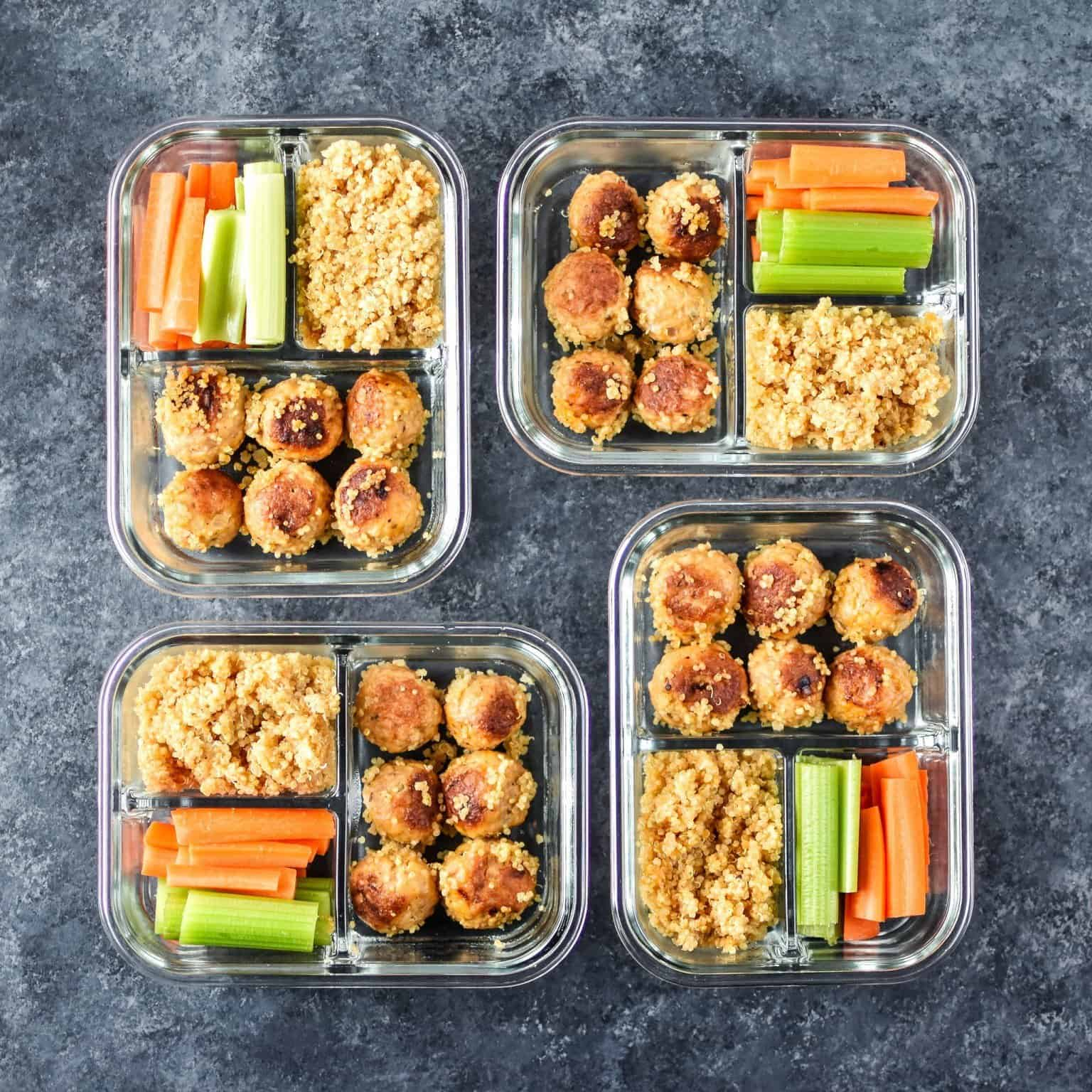 Instant Pot Buffalo Chicken Meatballs Meal Prep