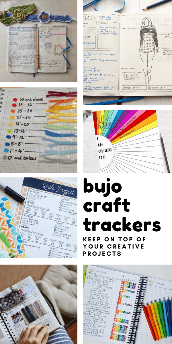 Loving these bullet journal craft trackers! So many ways to keep track of my crochet, quilting and other creative projects!