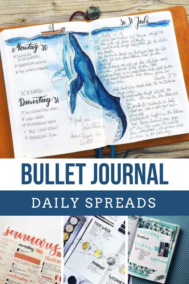 Be inspired by these bullet journal daily spreads