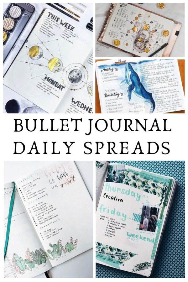 These bullet journal daily spread ideas are just what I needed to see for inspiration!