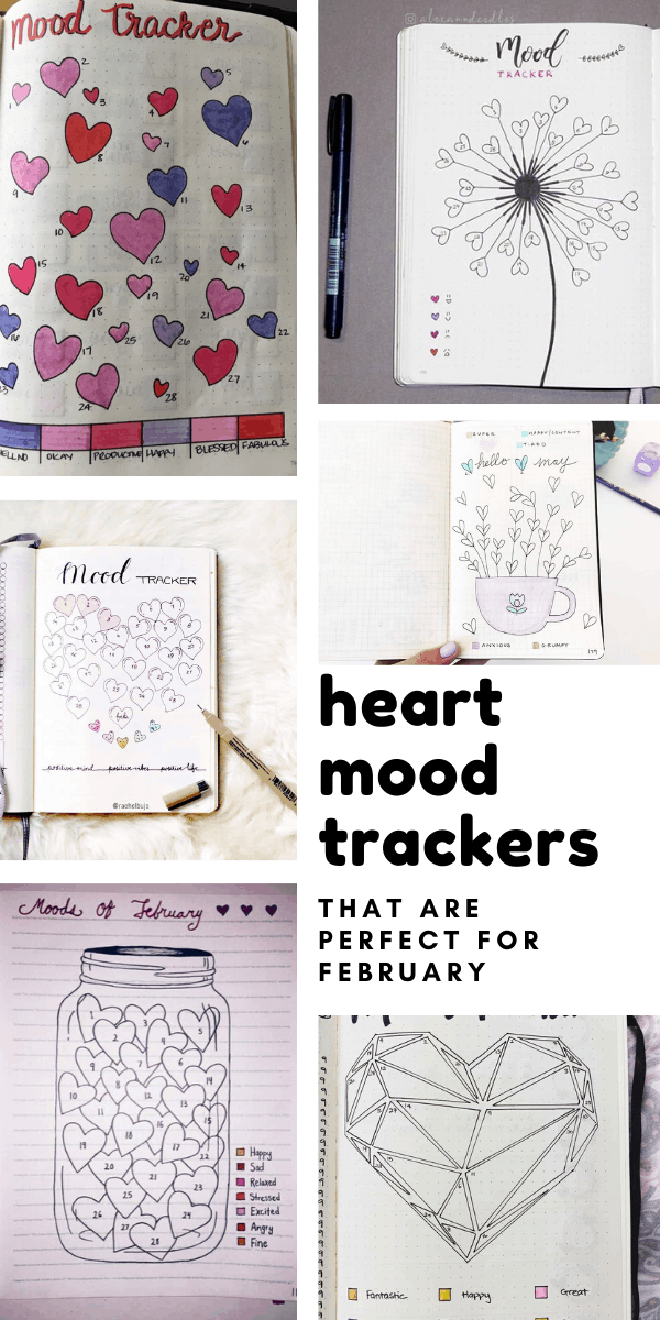 Loving these heart mood trackers for my bullet journal - just perfect for February emotions!