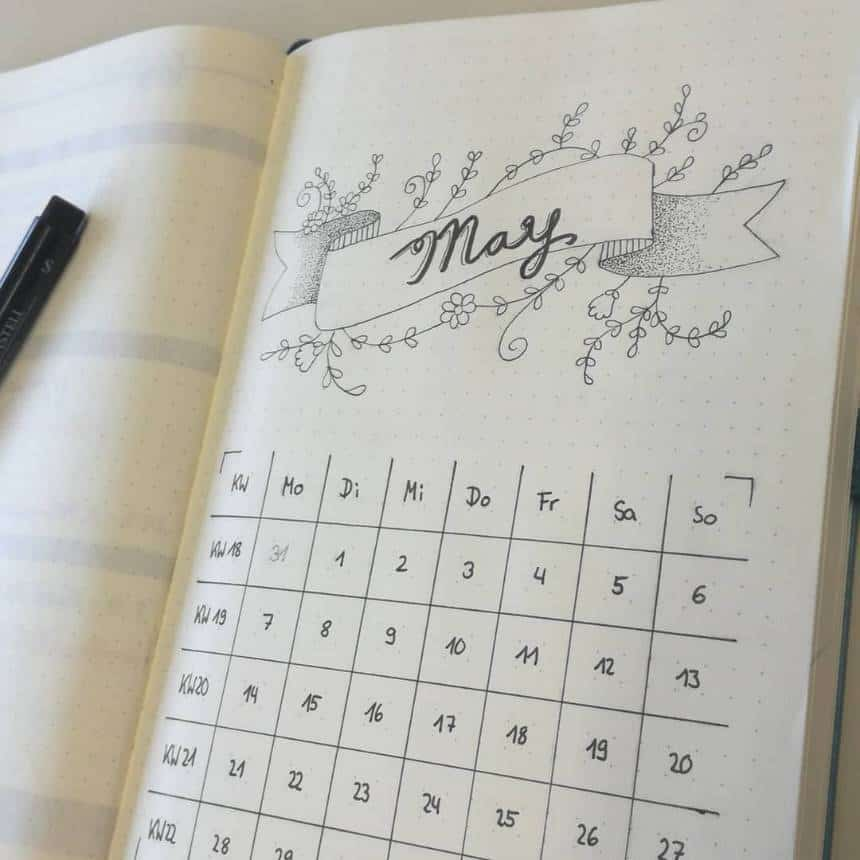bullet journal may cover pages 001