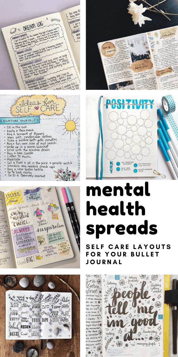 These mental health spreads for your bullet journal are a brilliant way to add some self care into your routine