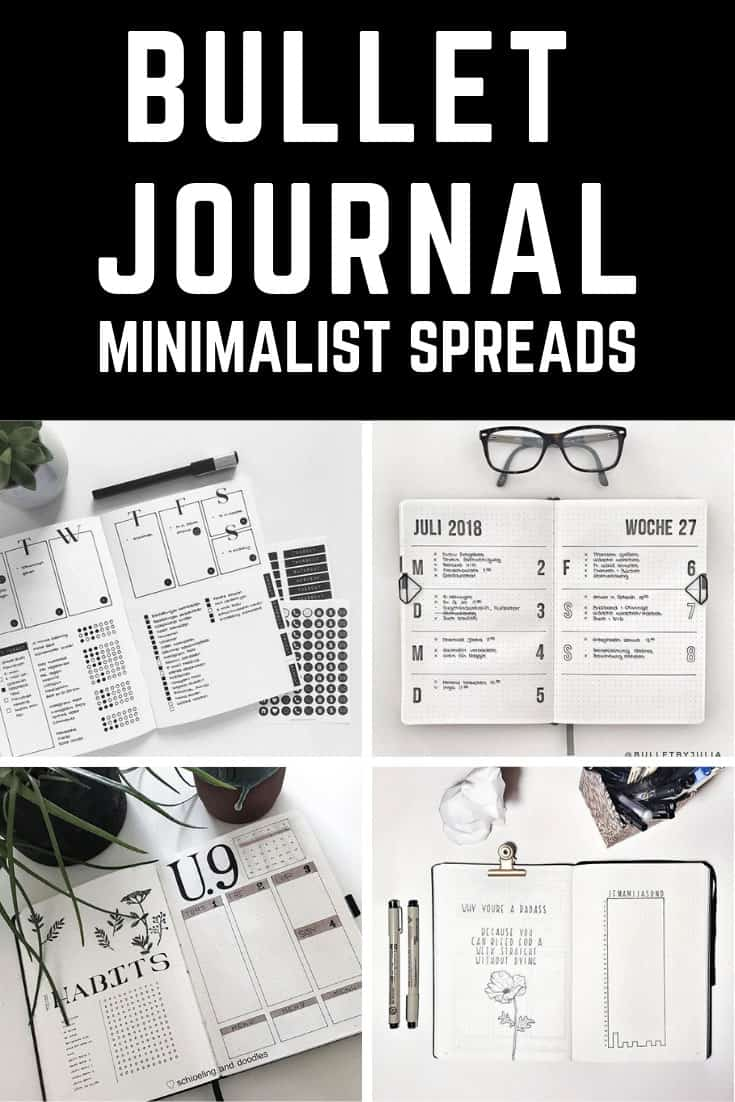 Black and white + bullet journal = stunning layouts you'll want to copy!