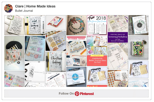 Follow our Bullet Journal board on Pinterest