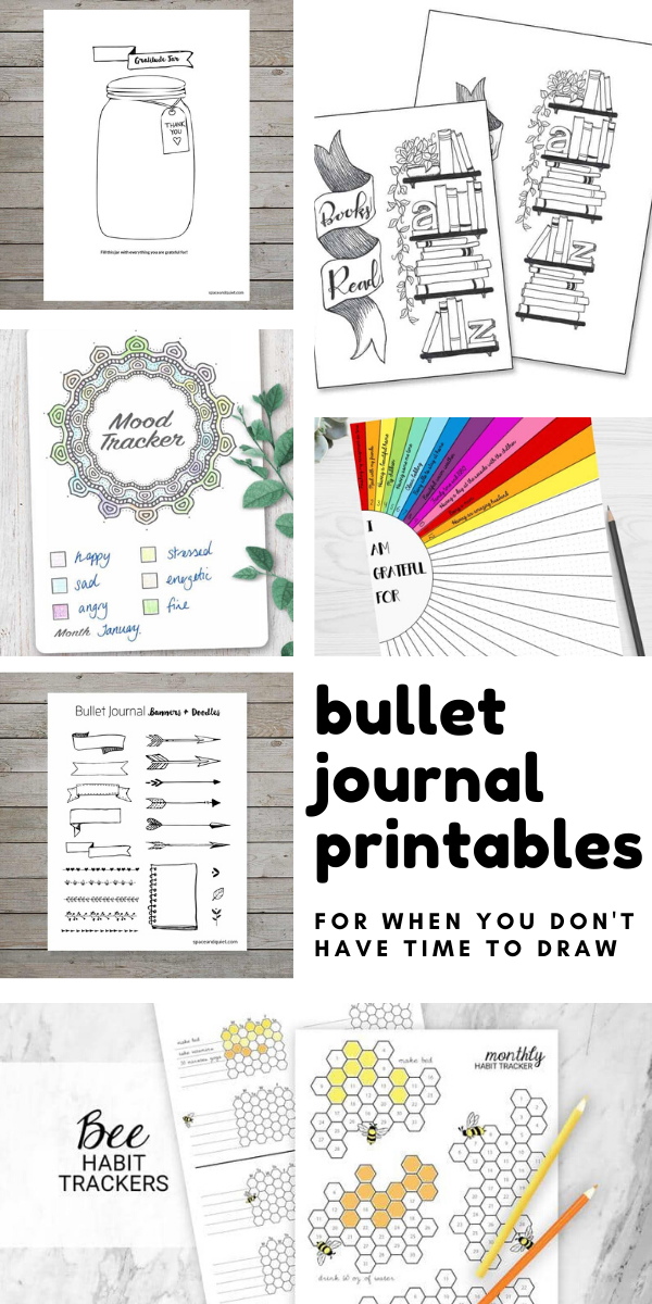 Loving these bullet journal printables - for times when i don't have time to draw my own spreads!