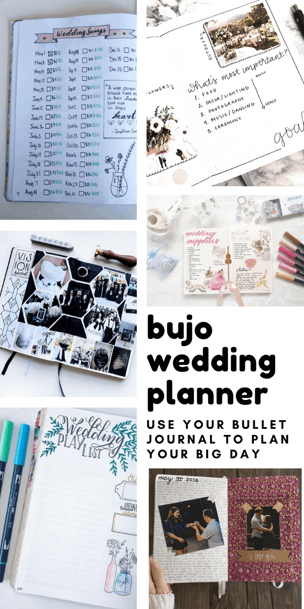 Use these bujo wedding planner spreads and trackers to make sure you don't forget important details