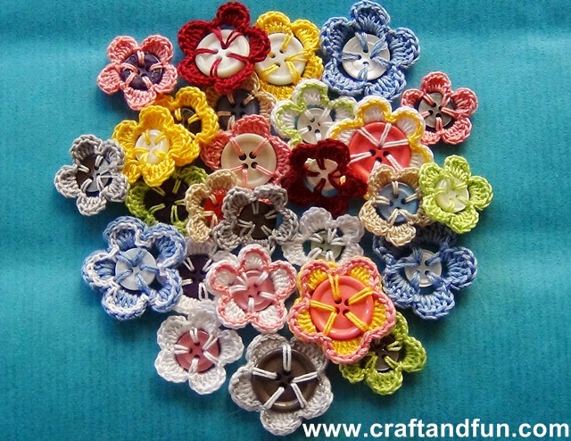 button flowers crochet pattern