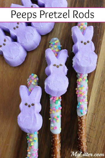 Peeps Pretzel Rods | Easter Treats | Desserts | Kids
