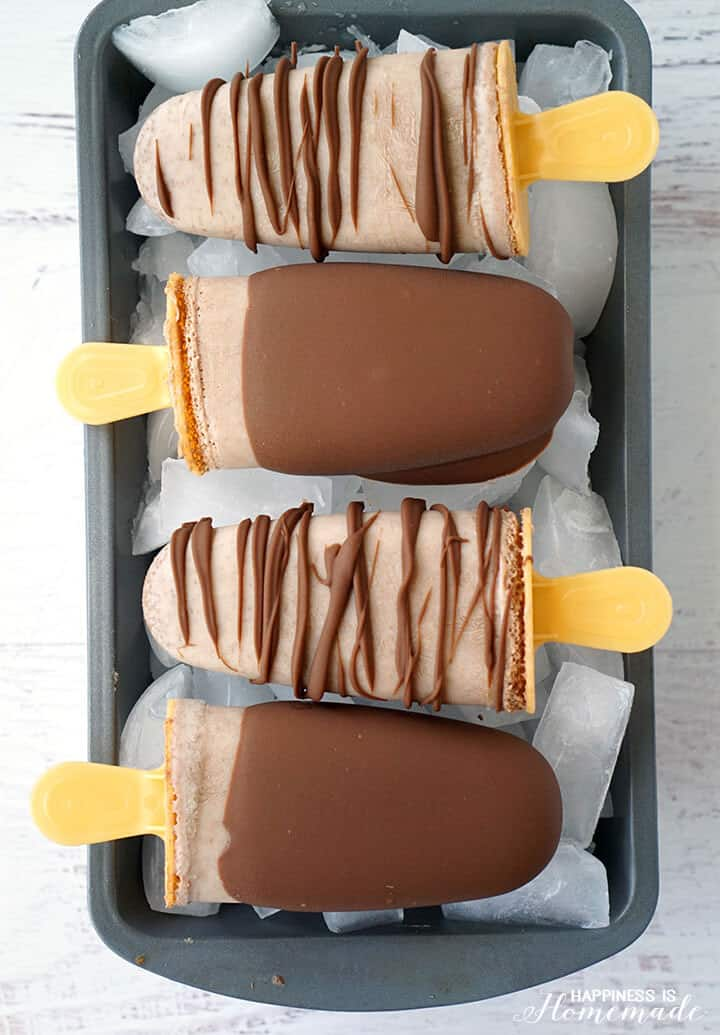 Chocolate Caramel Popsicles