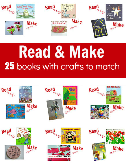 Read your book then make a craft - http://www.notimeforflashcards.com/2013/05/25-books-with-crafts-to-match.html