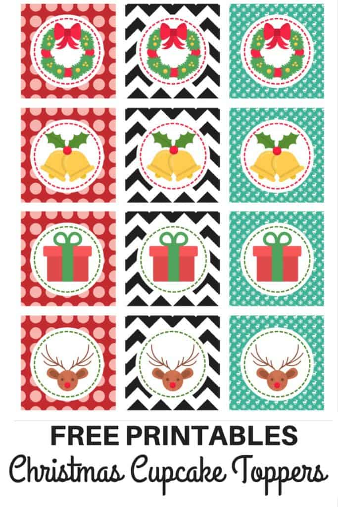 LOVE the Christmas Bells and the fact that these cupcake toppers double up as matching gift tags!