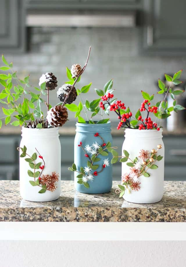 Ball Brand Jar Winter Vases