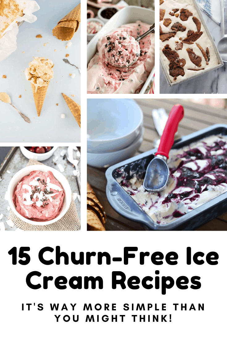 Did you know you could make ice cream at home without a machine? Oh yes! These churn-free recipes will see you through the summer! #icecream #dessert #recipes