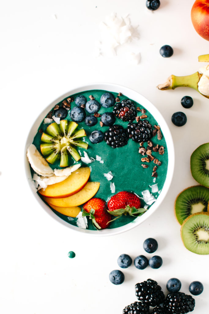 Rainbow Green Smoothie Bowls