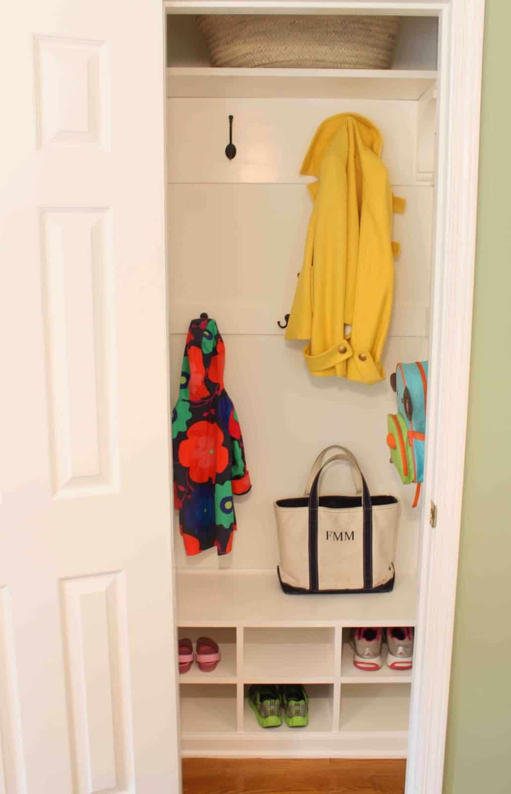 Turn your closet into a mini mudroom