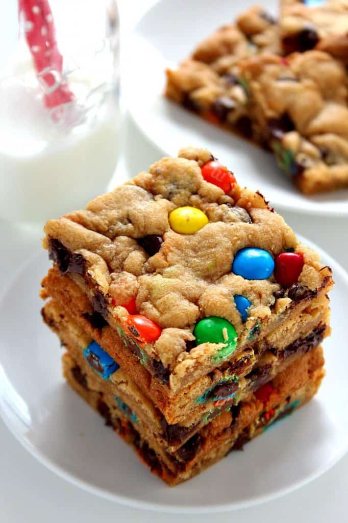 M&M Chocolate Cookie Bars Recipe