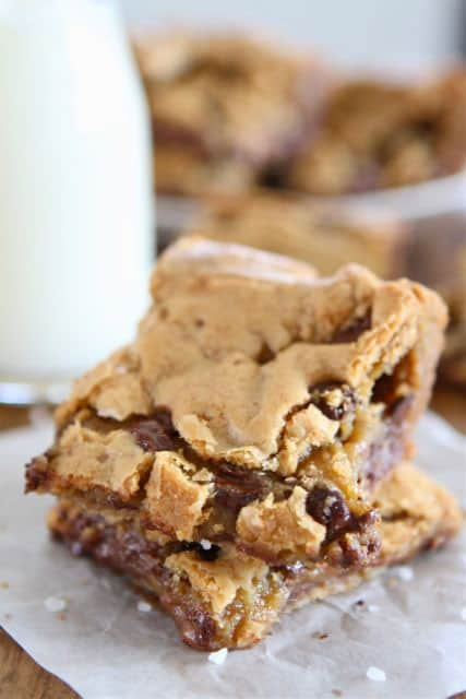 Chocolate Chip Salted Caramel Cookie Bars