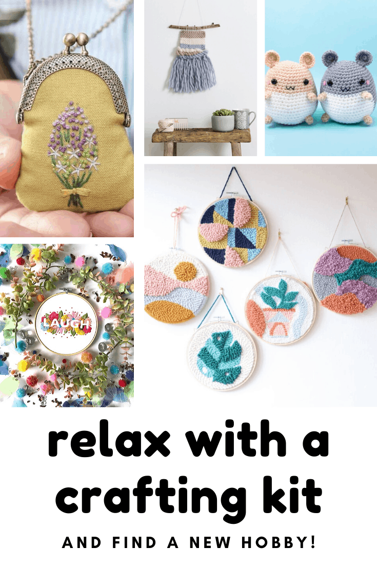 It's time to relax with a crafting kit - from embroidery to needle punch or even weaving!