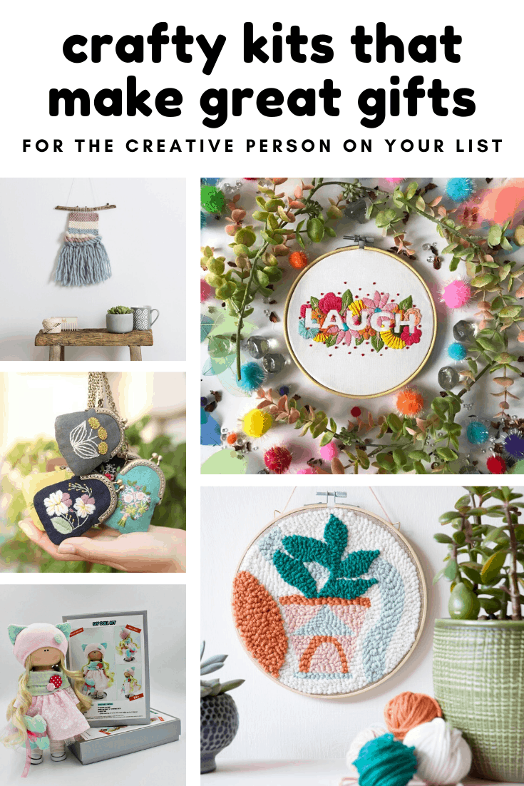 These crafty kits make great gifts for the creative person on your list!