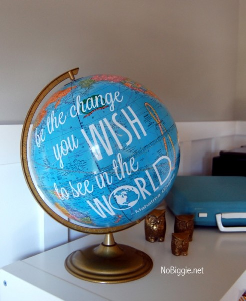 Favourite quote on a globe