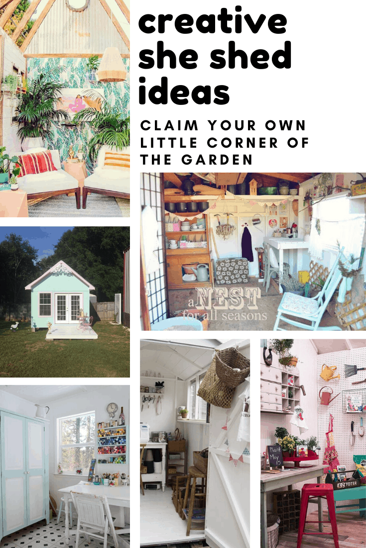 If you feel like you need a place to escape to you need to build one of these DIY she sheds in the garden! So many great ideas - including a craft room!