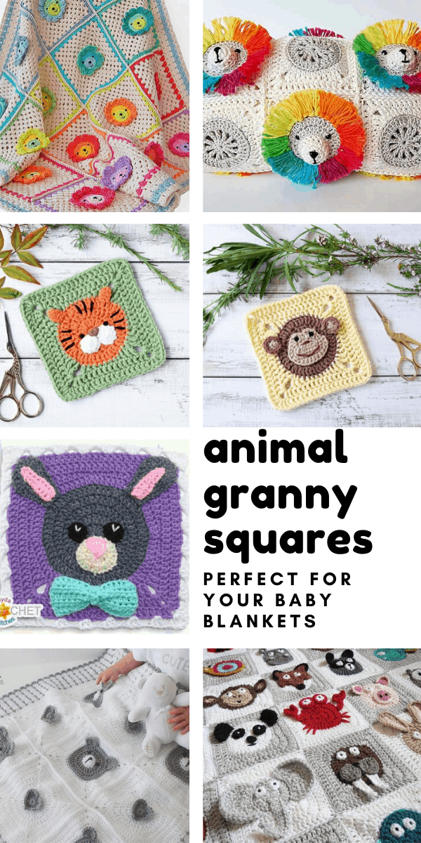 Loving these animal granny squares - so many cute crochet patterns that will make wonderful baby shower gifts