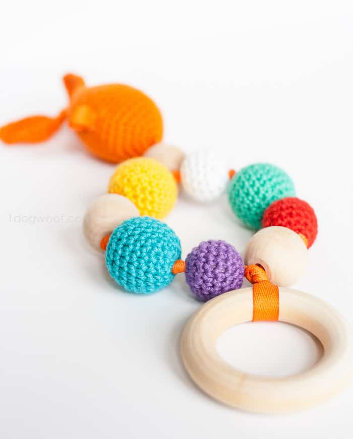 Bubbles And Goldfish Teether Crochet Pattern