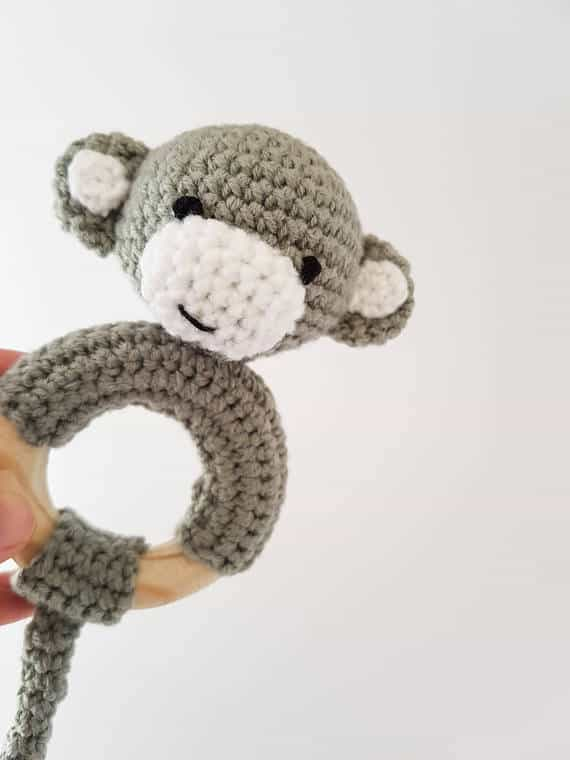 Cheeky Monkey Rattle Teether