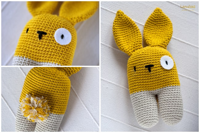 Two Legged Bunny Rattle