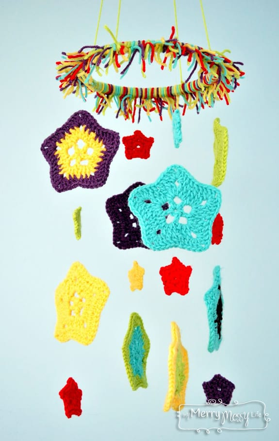 Crochet Star Baby Mobile