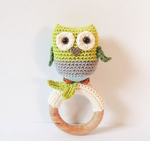 Little Owl Teething Ring