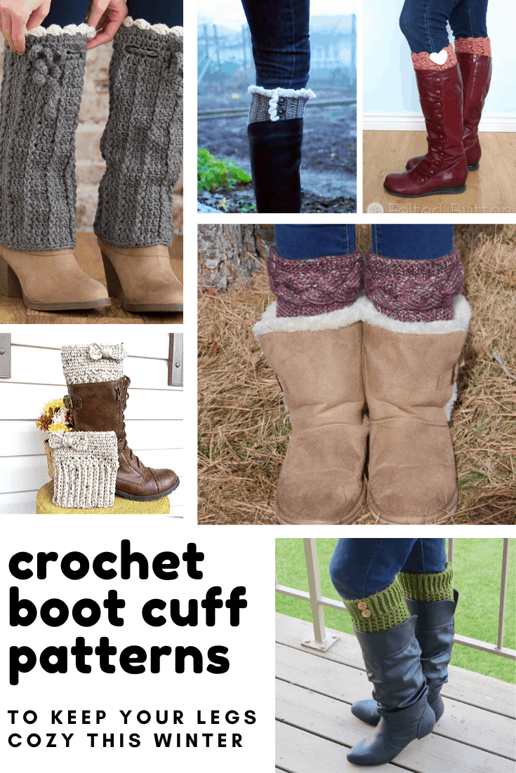 Loving these crochet boot cuff patterns -the perfect way to keep your feet cozy this winter!