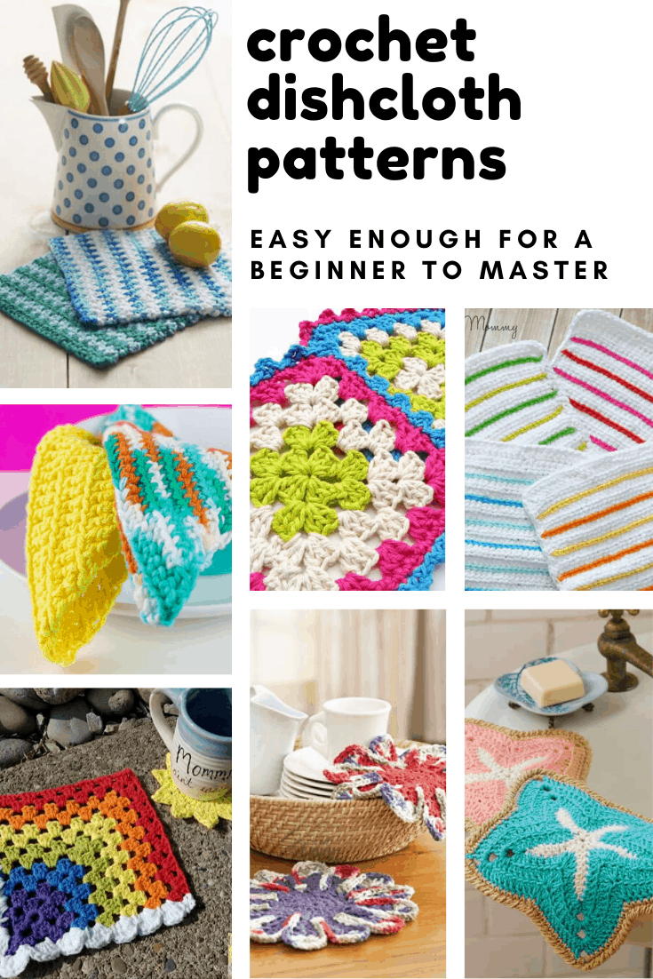 These easy crochet dishcloth patterns are beginner friendly and a great way to learn a new stitch