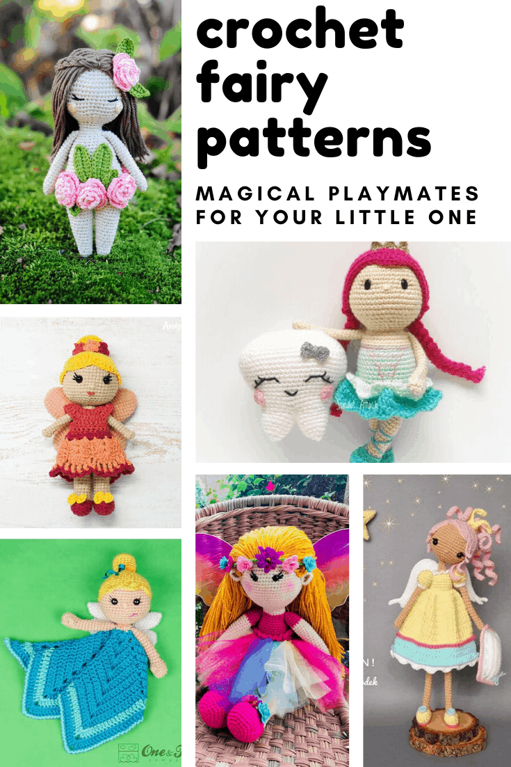 Oh how sweet are these crochet fairy dolls? The patterns are easy to follow and they'll make wonderful handmade gifts