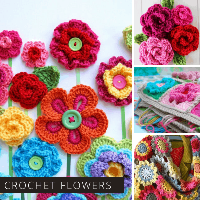 oh my! If you want to know how to crochet a flower these patterns will show you! And so gorgeous! Perfect for mother's day gifts and home decor!
