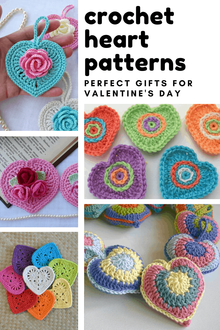 Loving these sweet heart crochet patterns that make lovely handmade gifts for Valentine's Day