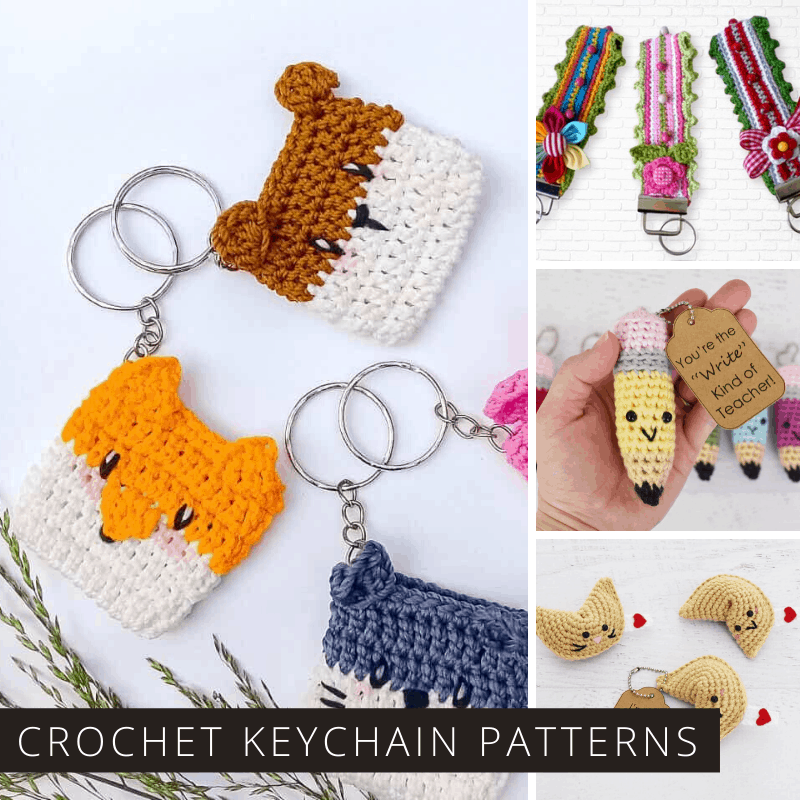 15 Free Must-Make Amigurumi Keychains for Bags, Purses, and Keys ... | 800x800