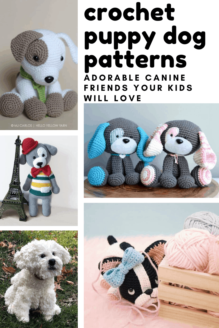 Oh my did you ever see a bunch of more adorable looking puppies? Loving these dog crochet patterns and I'm sure your kids will too!